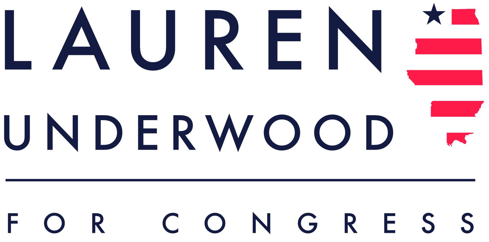 Image result for lauren underwood for congress logo